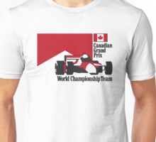 80´s MCLAREN WORLD CHAMPIONSHIP TEAM - CANADIAN GRAND PRIX  Unisex T-Shirt