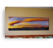 Sunrise On Lenticular Clouds (A 108 x 36 canvas print museum wrapped) Canvas Print
