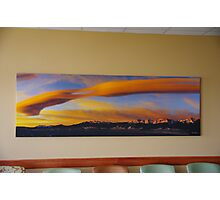 Sunrise On Lenticular Clouds (A 108 x 36 canvas print museum wrapped) Photographic Print