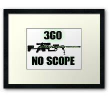 360 No Scope - Modern Warfare 2 Framed Print
