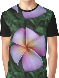 Soft Pink Plumeria Graphic T-Shirt