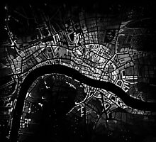 Map of Old 16th Century London  by rosemapartist