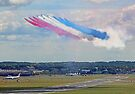 Red Arrows 10 Ship Open The Farnborough Airshow 2014 ! by Colin  Williams Photography