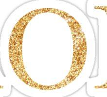 aopi gold glitter Sticker