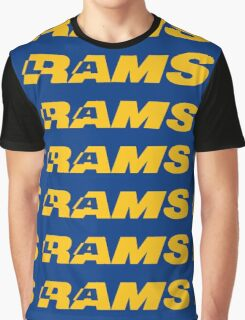 LOS ANGELES RAMS FOOTBALL RETRO Graphic T-Shirt