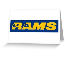 LOS ANGELES RAMS FOOTBALL RETRO Greeting Card