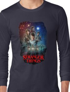 Stranger Things Black Long Sleeve T-Shirt