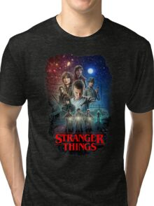 Stranger Things Black Tri-blend T-Shirt
