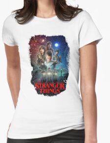 Stranger Things Black Womens Fitted T-Shirt