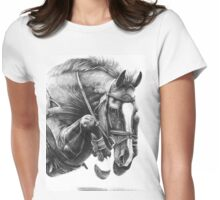 Catching Air - Showjumping Horse Womens Fitted T-Shirt