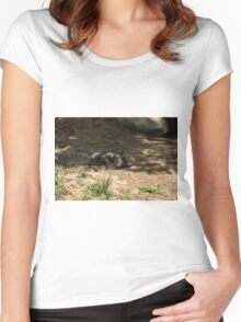 Enjoying A Warm Day Women's Fitted Scoop T-Shirt
