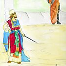 King Ahab and the Prophet by Anne Gitto