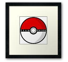 Team Valor Poké Ball | Pokémon Go Framed Print