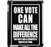 One Vote - white iPad Case/Skin