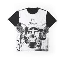 Distressed Simian Skulls Graphic T-Shirt