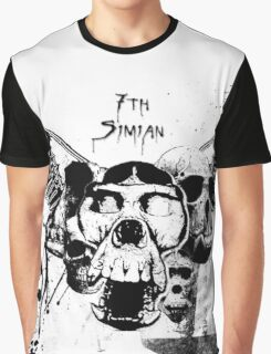 Distressed Simian Skulls Graphic T-Shirt