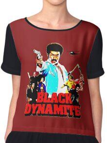 Black Dynamite Chiffon Top