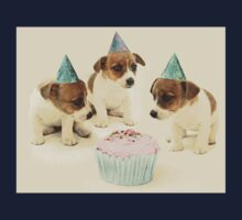 Vintage Puppy Birthday Card Kids Tee