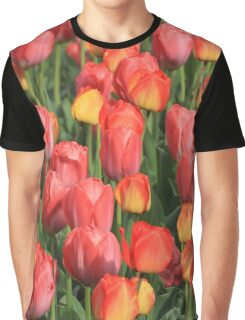 Flower-Bed Of Tulips Graphic T-Shirt