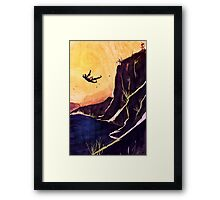 """He fell."" Framed Print"