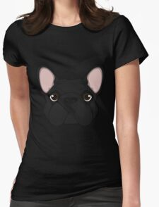 Frenchie - Black Brindle  Womens Fitted T-Shirt