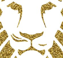 Gold Glitter Lion Tribal Silhouette Sticker