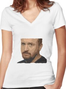 Louis CK Women's Fitted V-Neck T-Shirt