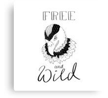 free and wild2 Canvas Print