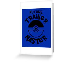 Future Trainer Monster T-Shirt Greeting Card