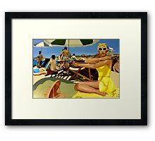 Riviera Playa Framed Print