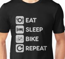 Eat Sleep Ride Repeat Mountain Bike Unisex T-Shirt