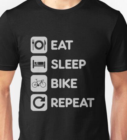 Eat Sleep Ride Repeat Mountain Bike Unisex T-Shirt
