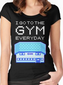 I go to the gym everyday - pokemon Women's Fitted Scoop T-Shirt