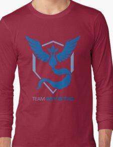 Team Mystic Logo with Text Long Sleeve T-Shirt