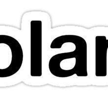 Roland Black Sticker