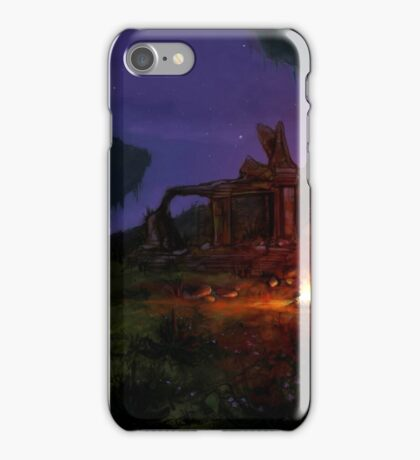 Night landscape iPhone Case/Skin