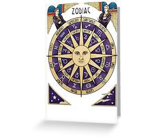 Zodiac Astrology Astral Star Sign Greeting Card