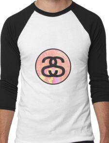 stussy tie-dye logo Men's Baseball ¾ T-Shirt