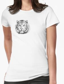 Magnificent head of a Siberian tiger looking at camera Womens Fitted T-Shirt