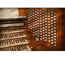 Organist - Ready at the controls Photographic Print