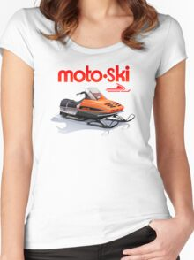 Moto Ski vintage Snowmobiles Women's Fitted Scoop T-Shirt