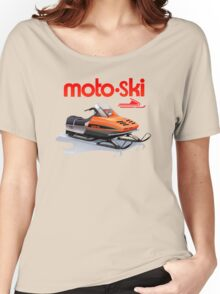 Moto Ski vintage Snowmobiles Women's Relaxed Fit T-Shirt
