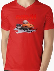 Moto Ski vintage Snowmobiles Mens V-Neck T-Shirt