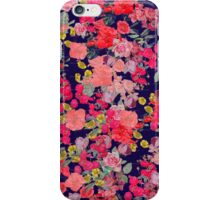 navy floral print iPhone Case/Skin