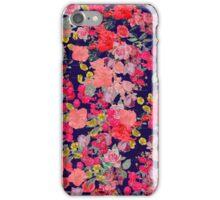 navy floral print iPhone Case/Skin