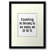 Counting In Binary Framed Print