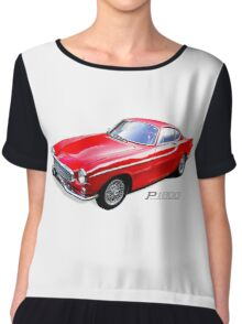 Vintage Volvo p1800 sports car Chiffon Top