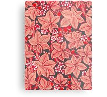 William Morris Strawberries, Coral Orange Metal Print