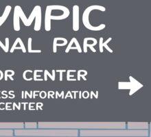 Olympic National Park Sign, Washington, USA Sticker