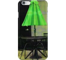 Green Umbrella iPhone Case/Skin